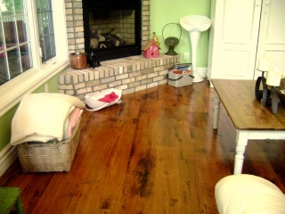 Reclaimed Solid Original Face Hemlock Flooring Natural urethane, site