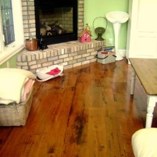 Reclaimed Solid Original Face Hemlock Flooring Natural urethane, site