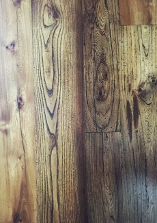 Reclaimed Re-sawn Elm with Early American stain