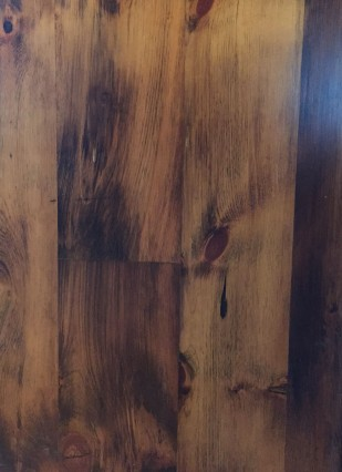 Reclaimed Re-sawn Pine with Early American Stain